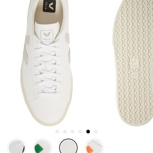 Veja Campo Sneaker in Mens size 9 in Extra White/Natural NWOT